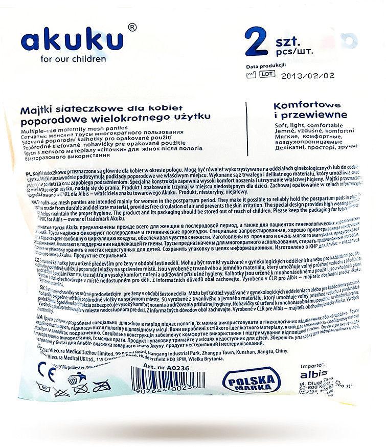 Akuku Wielorazowe majtki poporodowe roz XXL 2szt