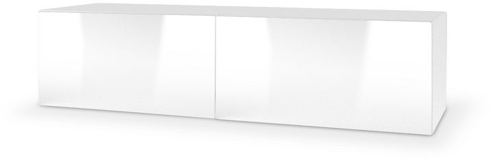 Szafka wisząca RTV LAVAL IV 160x40x30 biały mat-biały połysk