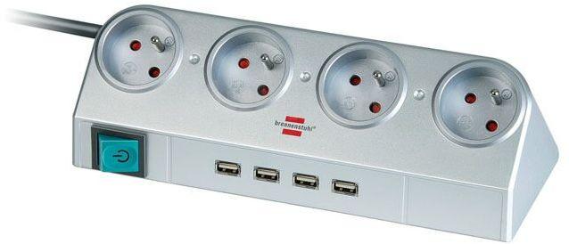 Przedłużacz biurkowy Desktop-Power 4 gniazda i 4 USB