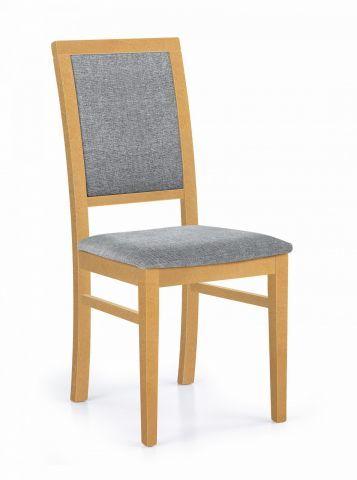 Krzesło SYLWEK 1 szare tkanina/dąb miodowy  Kupuj w Sprawdzonych sklepach