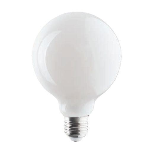 Żarówka LED globe E27 8W ciepła 3000K Glass Ball Bulb bez kołnierza G95 mleczna