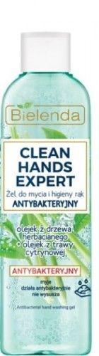 Bielenda Clean Hands Expert żel do mycia rąk antybakteryjny z flip topem 200g