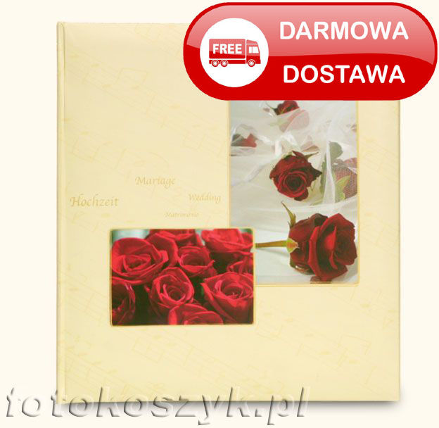 Album ślubny Henzo Attraction Bordowe Róże (tradycyjny 60 białych stron)