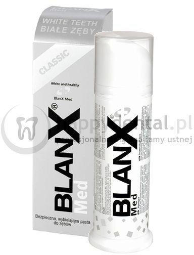 BLANX Classic Białe Zęby 75ml - bezpieczna pasta wybielająco-ochronna na bazie naturalnych składników
