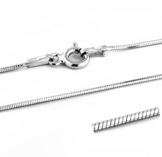 Srebrny Łańcuszek Linka 8-Kątna Długość 80cm