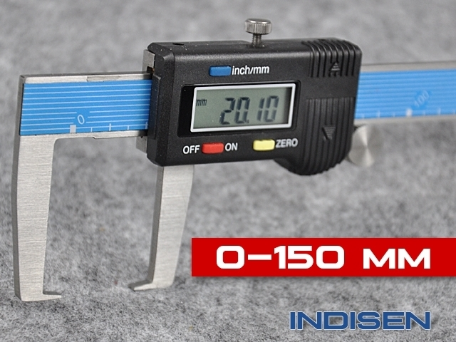 Suwmiarka elektroniczna do rowków zewnętrznych 150MM - INDISEN (1231-1500)