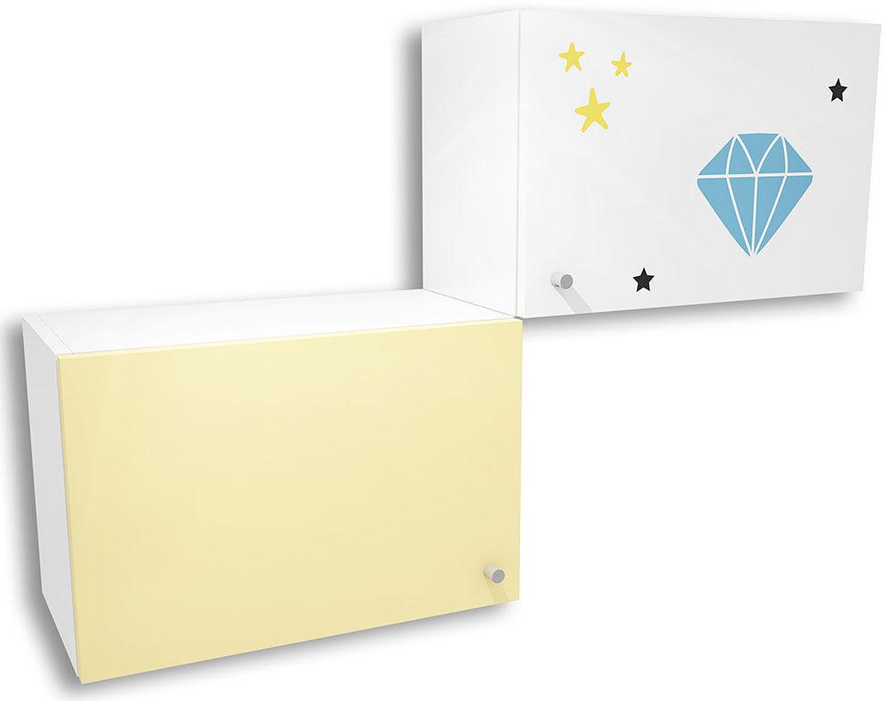 Biało-żółta szafka dziecięca Lili 20X - 3 kolory