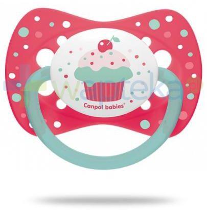 Canpol Babies smoczek silikonowy symetryczny cupcake różowy 18m+ 1 sztuka [23/284]