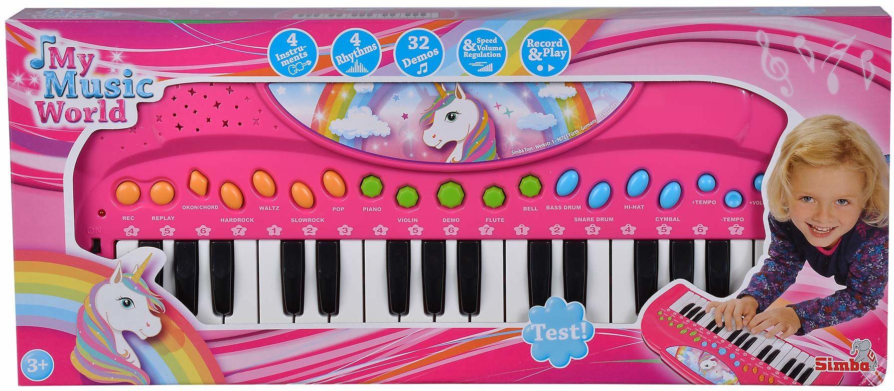 Simba 106832445 klawiatura z jednorożcem