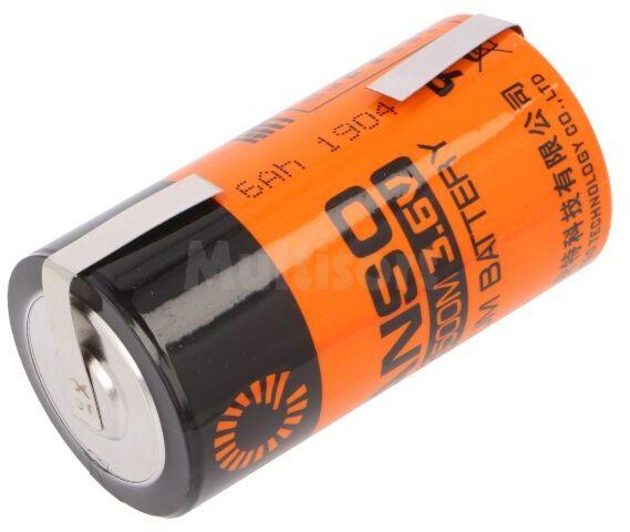 Bateria litowa 3,6V C FANSO blaszki lutownicze fi26x50,9mm 6000mAh