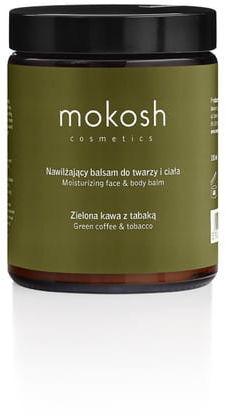 Mokosh nawilżający balsam do twarzy i ciała zielona kawa z tabaką 180 ml