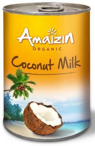 Coconut milk - napój kokosowy bez gumy guar w puszce (17% tłuszczu) BIO 400 ml Amaizin