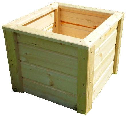 Drewniana kwadratowa donica ogrodowa 15 kolorów - Erni