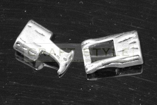 Dekoracyjne zapięcie kolor srebrny 38mm