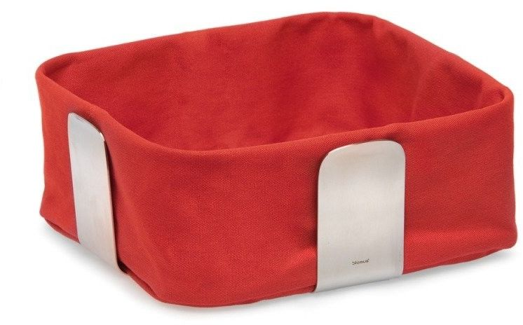Blomus desa - koszyk na pieczowo - duży - czerwony - 10,5 x 25,5 x 25,5 cm