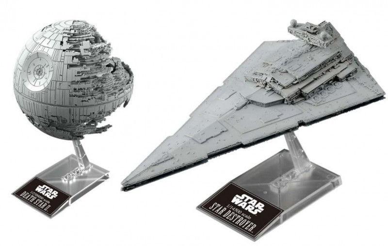 Modele do sklejania Star Wars Gwiazda Śmierci i Krążownik Imperium 1/14500