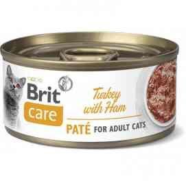 Brit Care Cat Turkey Pate with Ham Indyk Szynka 70 g