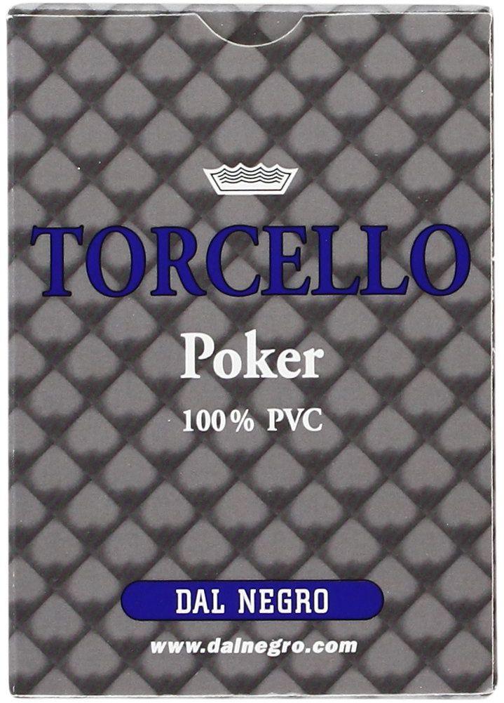 Dal Negro 24102  karty do gry w poker, Torcello, z pojedynczym etui, niebieskie