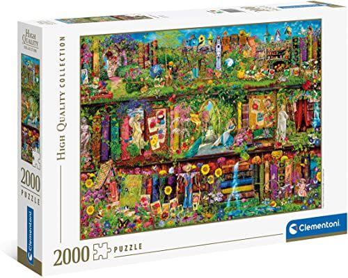 Clementoni 32567 Regał ogrodowy  puzzle 2000 części, wysoka jakość, gra zręcznościowa dla całej rodziny, kolorowa gra legesowa, puzzle dla dorosłych od 10 lat