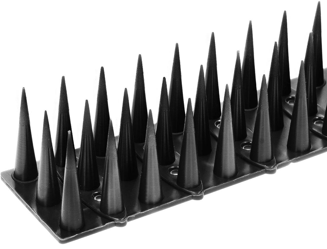 Plastikowe kolce na ptaki. Listwa z kolcami przeciw ptakom czarna.