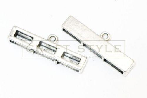 Końcówki do wklejania kolor srebrny 11x35mm