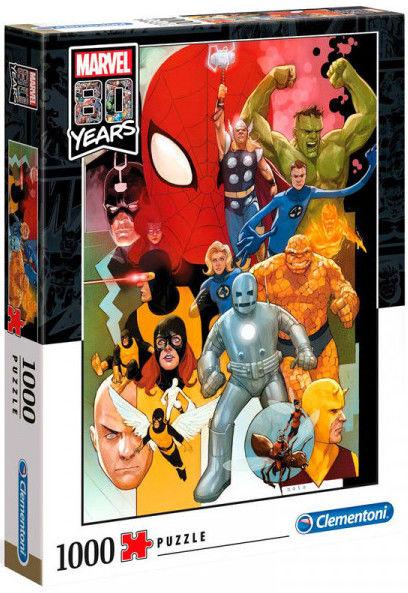 Puzzle Clementoni 1000 - 80 lat Marverl, Marvel 80th Anniversary