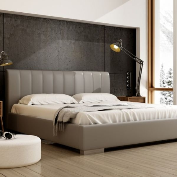 Łóżko NAOMI NEW DESIGN tapicerowane, Rozmiar: 120x200, Tkanina: Grupa II, Pojemnik: Bez pojemnika Darmowa dostawa, Wiele produktów dostępnych od ręki!