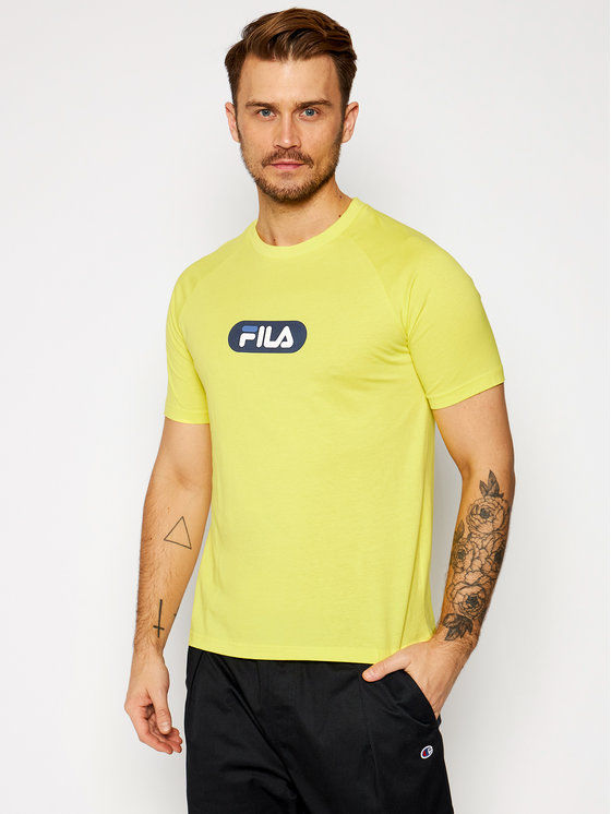 Fila T-Shirt Bane Raglan 687962 Żółty Regular Fit