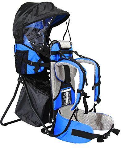FA Sports Ochrona przed słońcem Lil''Boss Outdoor nosidełko dla dzieci, niebieski/szary/czarny, 50 x 38 x 90 cm
