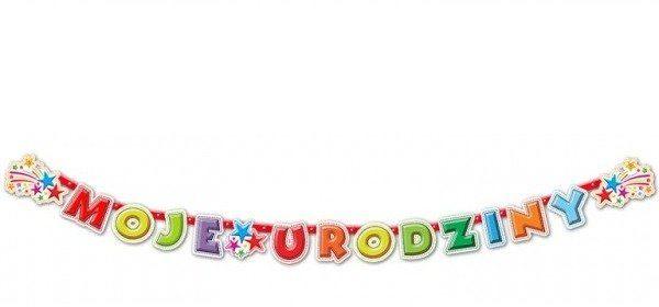 Baner urodzinowy Moje Urodziny 240cm 1szt. BR13
