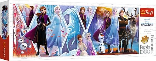 Puzzle TREFL 1000 - Kraina Lodu II, Frozen II, (panorama)