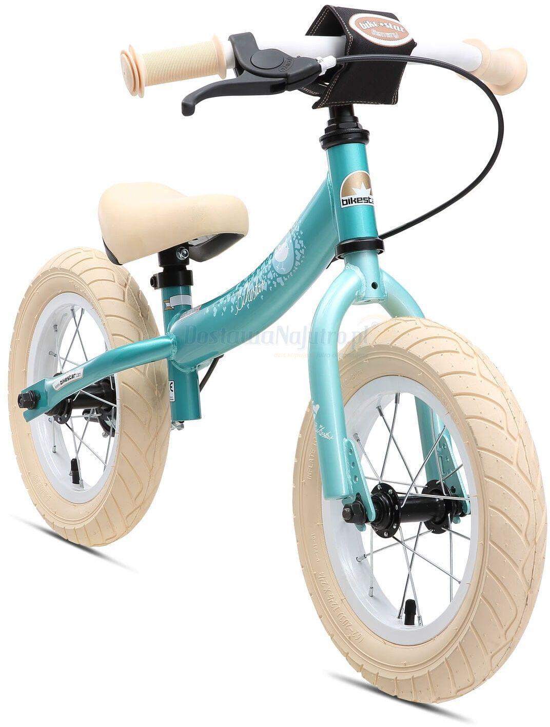 """Rowerek biegowy 12"""" XL BIKESTAR GERMANY sport turkus"""