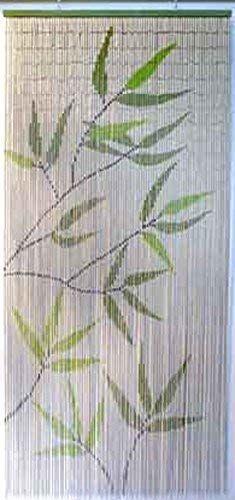 Luance 650 zasłona Tights motyw liści bambus 90 x 90 x 200 cm zielona