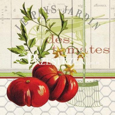 SERWETKI PAPIEROWE - Warzywa - Pomidory
