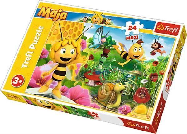 Puzzle dla dzieci Trefl 24 MAXI - W świecie Pszczółki Mai, Maya''s world