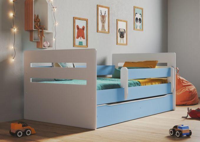 Łóżko dziecięce TOMI 160x80 niebieskie
