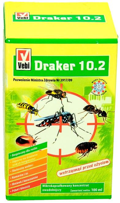 Środek na pluskwy i inne owady Draker 10.2 100ml .