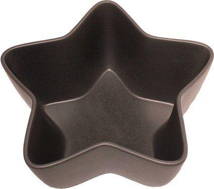 ASA XMAS miska gwiazdowa, ceramiczna, ciemnoszara, 24 x 24 x 11,5 cm