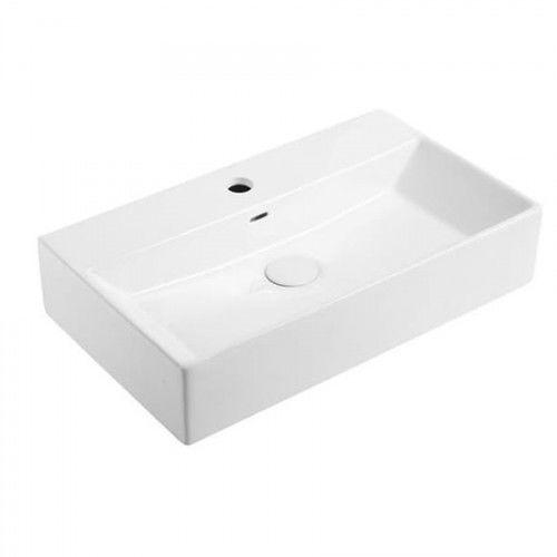 Umywalka nablatowa 60x36x13 cm, biała