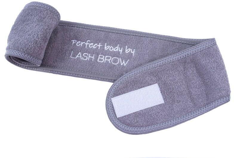 Lash Brow Opaska kosmetyczna SPA Frotte Szara