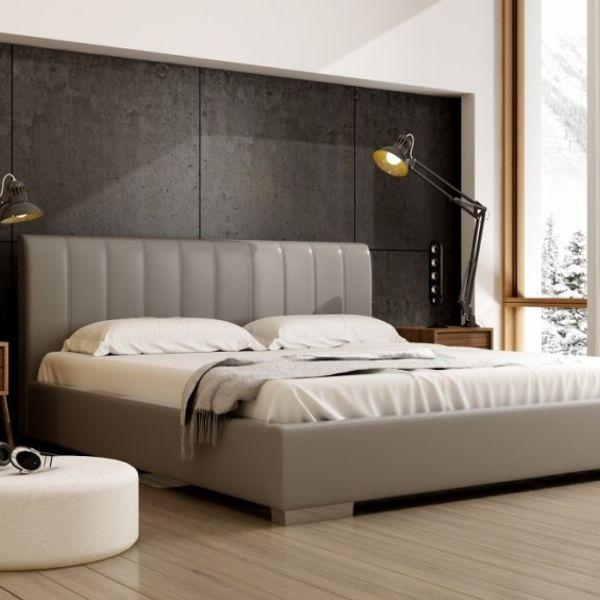 Łóżko NAOMI NEW DESIGN tapicerowane, Rozmiar: 200x200, Tkanina: Grupa II, Pojemnik: Bez pojemnika Darmowa dostawa, Wiele produktów dostępnych od ręki!