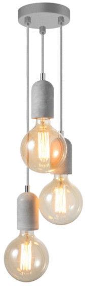 Lampa wisząca Volta AZ2385 AZzardo betonowa oprawa w kolorze szarym