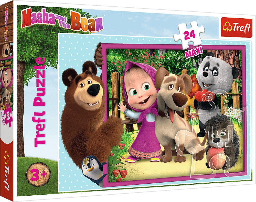 Puzzle dla dzieci Trefl 24 MAXI - Masza i Niedźwiedź, Masha and Bear