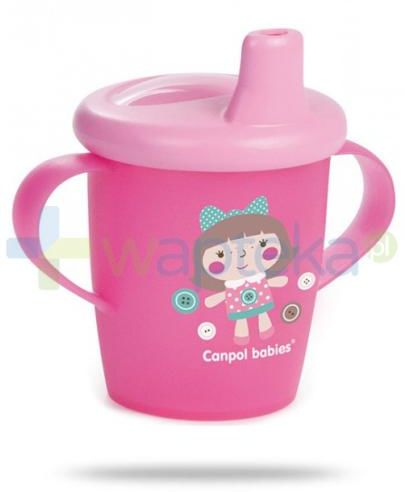 Canpol Babies Haberman dla canpol babies kubek niekapek dla dzieci 9m+ różowy lalka 250 ml [31/200]
