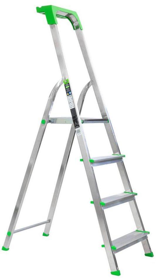 Drabina 1-stronna 4 stopnie aluminiowa Standers