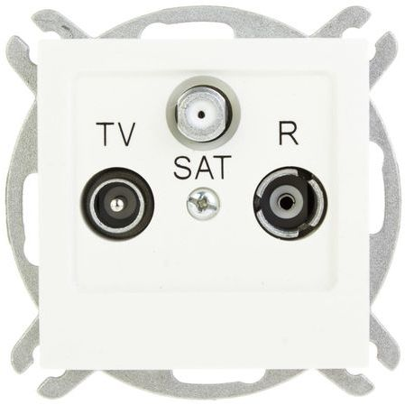 AS Gniazdo antenowe RTV-SAT końcowe ecru GPA-GS/m/27