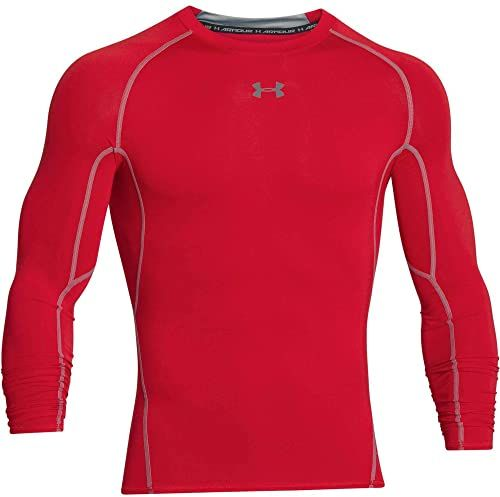 adidas Damska koszulka kompresyjna Heatgear męska z długim rękawem Czerwony/stal 3XL