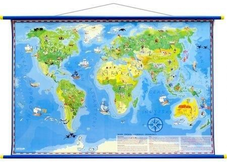 Mapa ścienna - Świat Młodego Odkrywcy ZAKŁADKA DO KSIĄŻEK GRATIS DO KAŻDEGO ZAMÓWIENIA