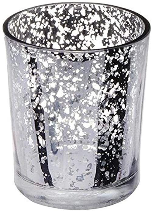 CLUB zielone szkło SM.srebrny świecznik 55 x 65 mm, srebrny, 23,5 x 18 x 7,5 cm