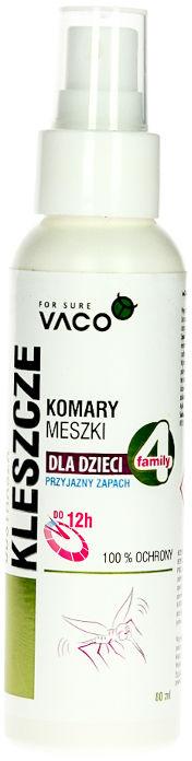 Preparat na kleszcze i komary dla dzieci Vaco. 80ml.